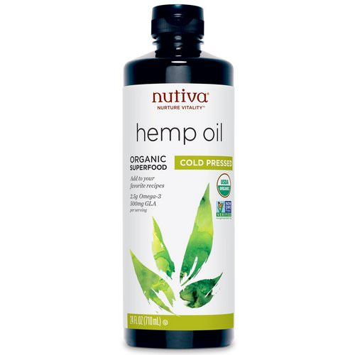 Nutiva, Organic Hemp Oil, Cold Pressed, 24 fl oz (710 ml) فوائد