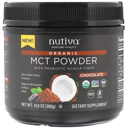 Nutiva, Organic MCT Powder, Chocolate, 10.6 oz (300 g) فوائد