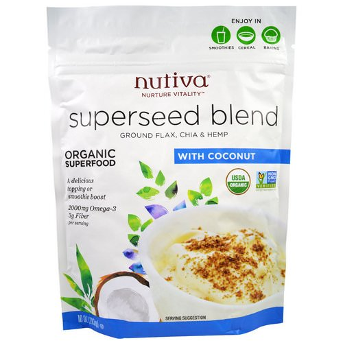 Nutiva, Organic Superseed Blend, With Coconut, 10 oz (283 g) فوائد