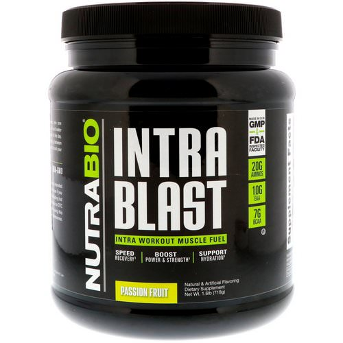 NutraBio Labs, Intra Blast, Passion Fruit, 1.6 lb (718 g) فوائد