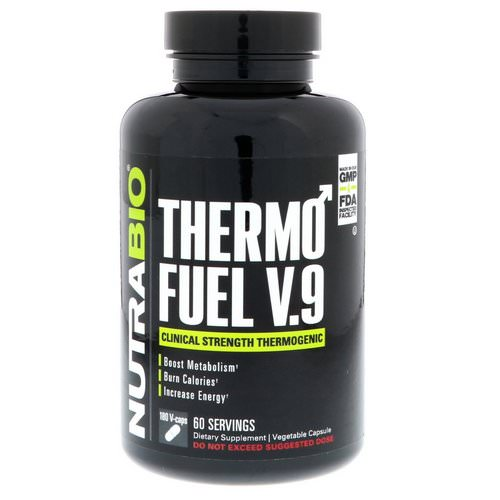 NutraBio Labs, ThermoFuel V.9 for Men, 180 Vegtable Capsules فوائد