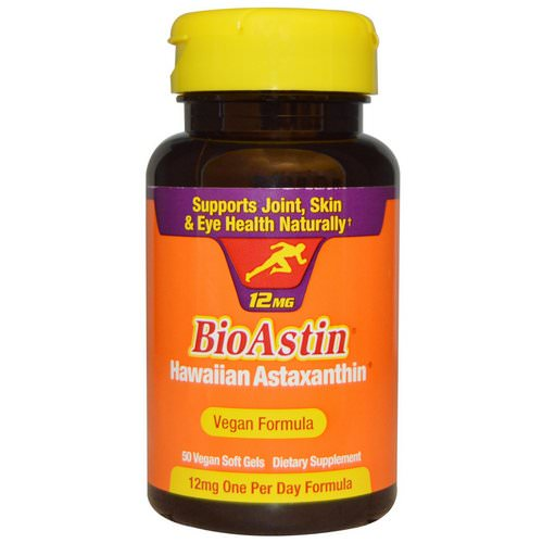 Nutrex Hawaii, BioAstin, 12 mg, 50 Vegan Soft Gels فوائد