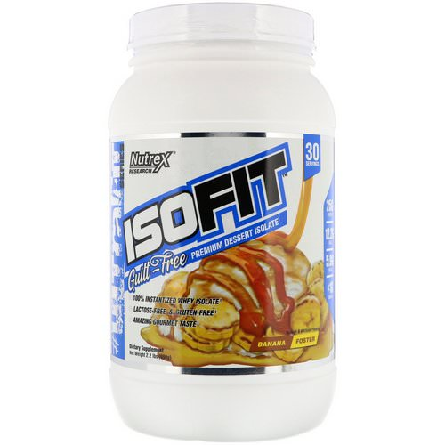 Nutrex Research, Isofit, Banana Foster, 2.2 lbs (990 g) فوائد