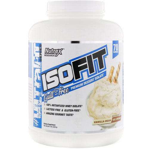 Nutrex Research, IsoFit, Vanilla Bean Ice Cream, 5 lbs (2261 g) فوائد