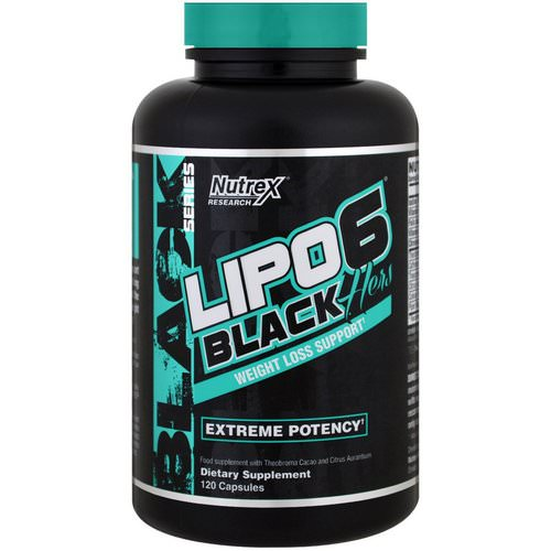 Nutrex Research, Lipo-6 Black, Hers, Weight Loss Support, 120 Capsules فوائد