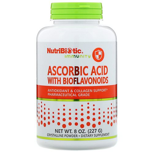 NutriBiotic, Immunity, Ascorbic Acid with Bioflavonoids, Crystalline Powder, 8 oz (227 g) فوائد