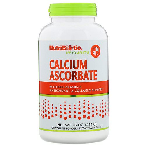 NutriBiotic, Immunity, Calcium Ascorbate, Crystalline Powder, 16 oz (454 g) فوائد