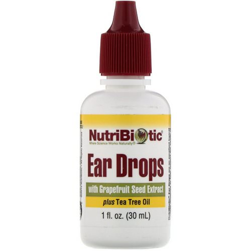 NutriBiotic, Ear Drops with Grapefruit Seed Extract plus Tea Tree Oil, 1 fl oz (30 ml) فوائد