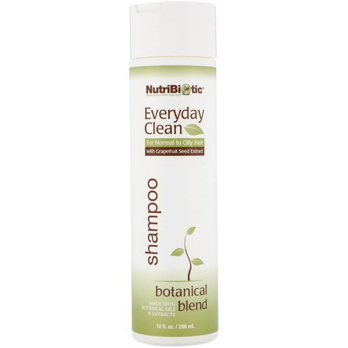 NutriBiotic, Everyday Clean, Shampoo, Botanical Blend, 10 fl oz (296 ml) فوائد