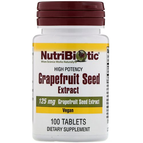 NutriBiotic, Grapefruit Seed Extract, 125 mg, 100 Tablets فوائد