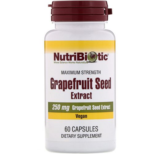 NutriBiotic, Grapefruit Seed Extract, 250 mg, 60 Capsules فوائد
