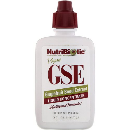 NutriBiotic, GSE, Grapefruit Seed Extract, Liquid Concentrate, 2 fl oz (59 ml) فوائد