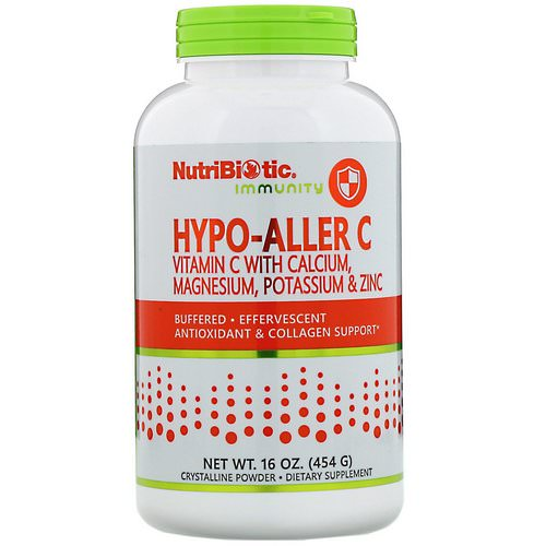 NutriBiotic, Immunity, Hypo-Aller C Vitamin C with Calcium, Magnesium, Potassium & Zinc, 16 oz (454 g) فوائد