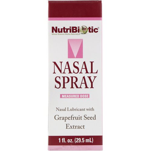 NutriBiotic, Nasal Spray, with Grapefruit Seed Extract, 1 fl oz (29.5 ml) فوائد