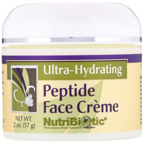 NutriBiotic, Peptide Face Creme, Ultra-Hydrating, 2 oz (57 g) فوائد