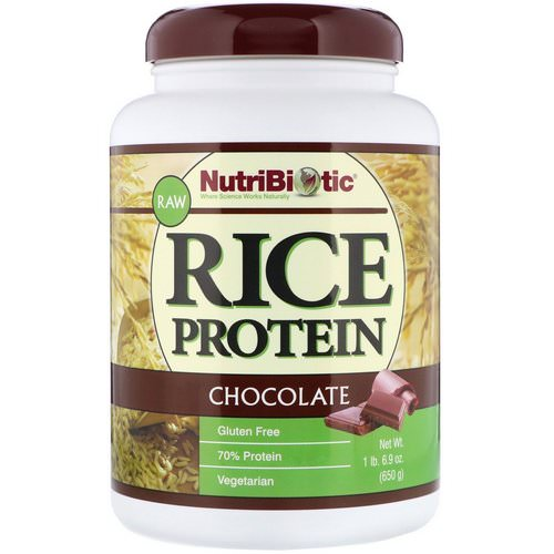 NutriBiotic, Raw Rice Protein, Chocolate, 1.43 lbs (650 g) فوائد
