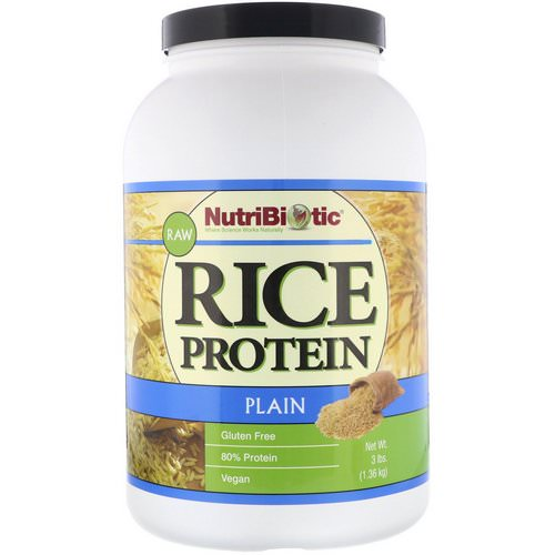 NutriBiotic, Raw, Rice Protein, Plain, 3 lbs (1.36 kg) فوائد