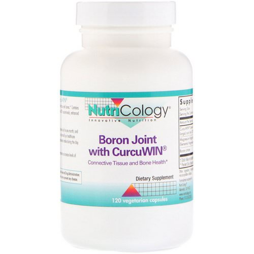 Nutricology, Boron Joint with CurcuWin, 120 Vegetarian Capsules فوائد