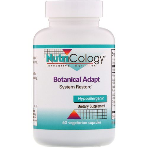 Nutricology, Botanical Adapt, System Restore, 60 Vegetarian Capsules فوائد