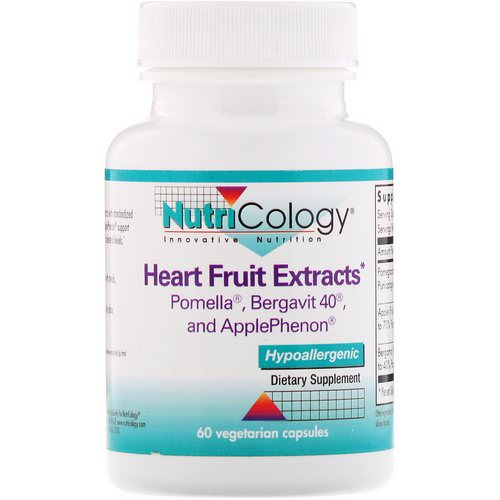 Nutricology, Heart Fruit Extracts, 60 Vegetarian Capsules فوائد