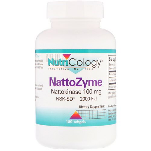 Nutricology, NattoZyme, 100 mg, 180 Softgels فوائد