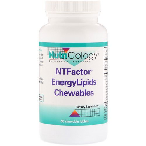 Nutricology, NTFactor EnergyLipids Chewables, 60 Chewable Tablets فوائد