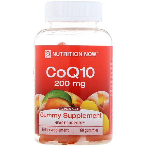 Nutrition Now, CoQ10, Natural Peach Flavor, 200 mg, 60 Gummies فوائد