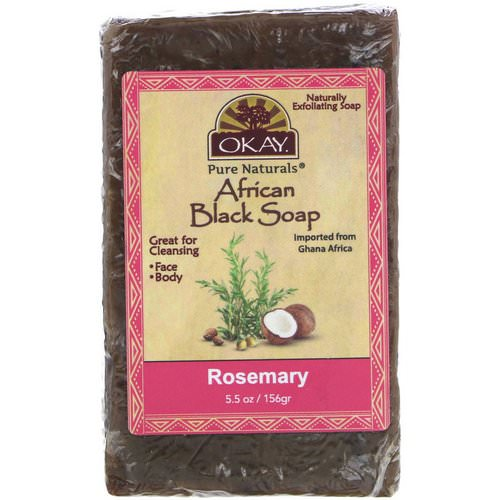 Okay, African Black Soap, Rosemary, 5.5 oz (156 g) فوائد
