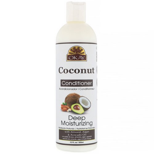 Okay, Deep Moisturizing Conditioner, Coconut, 12 fl oz (355 ml) فوائد