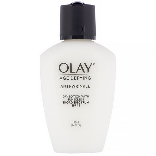 Olay, Age Defying, Anti-Wrinkle, Day Lotion with Sunscreen, SPF 15, 3.4 fl oz (100 ml) فوائد