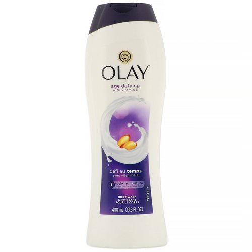 Olay, Age Defying Body Wash with Vitamin E, 13.5 fl oz (400 ml) فوائد