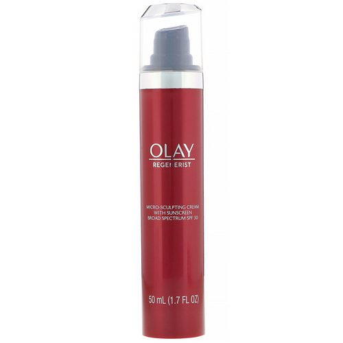 Olay, Regenerist, Micro-Sculpting Cream with Sunscreen, SPF 30, 1.7 fl oz (50 ml) فوائد