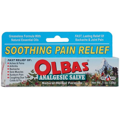 Olbas Therapeutic, Analgesic Salve, Natural Herbal Formula, 1 oz (28 g) فوائد