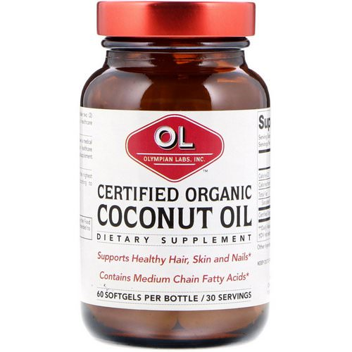 Olympian Labs, Certified Organic Coconut Oil, 60 Softgels فوائد
