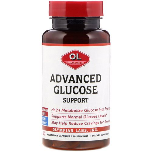 Olympian Labs, Advanced Glucose Support, 60 Vegetarian Capsules فوائد