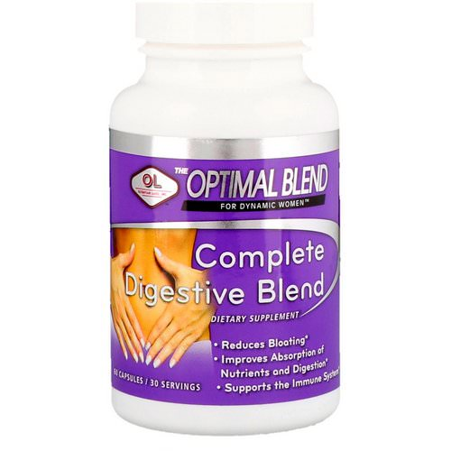 Olympian Labs, Optimal Blend, Complete Digestive Blend, For Women, 60 Capsules فوائد