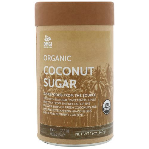OMG! Organic Meets Good, Organic, Coconut Sugar, 12 oz (340 g) فوائد