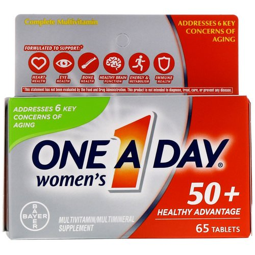 One-A-Day, Women's 50+, Healthy Advantage, 65 Tablets فوائد