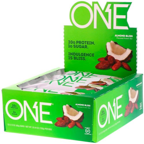 One Brands, One Bar, Almond Bliss, 12 Bars, 2.12 oz (60 g) Each فوائد