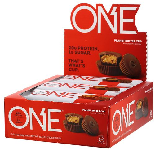 One Brands, One Bar, Peanut Butter Cup, 12 Bars, 2.12 oz (60 g) Each فوائد