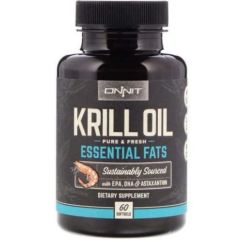 Onnit, Krill Oil, Essential Fats, 60 Softgels فوائد