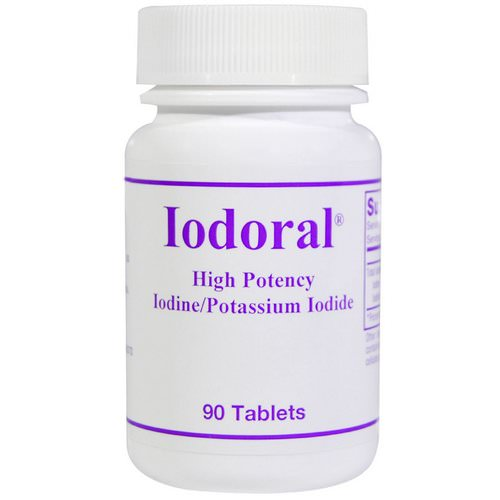 Optimox, Iodoral, Iodine/Potassium Iodide, 90 Tablets فوائد