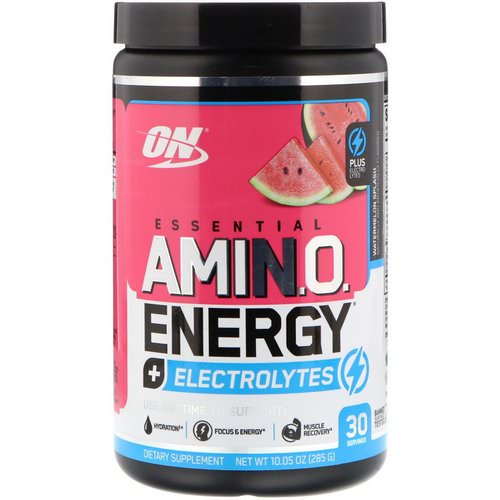 Optimum Nutrition, Essential Amin.O. Energy + Electrolytes, Watermelon Splash, 10.05 oz (285 g) فوائد