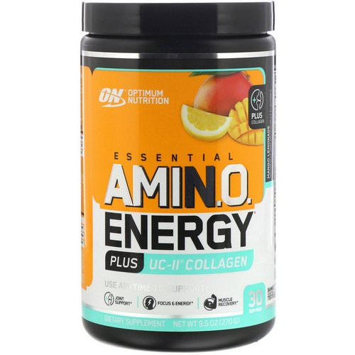 Optimum Nutrition, Essential Amino Energy plus UC-II Collagen, Mango Lemonade, 9.5 oz (270 g) فوائد