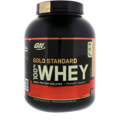 Optimum Nutrition, Gold Standard, 100% Whey, Cake Batter, 5 lbs (2.27 kg) فوائد