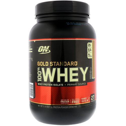 Optimum Nutrition, Gold Standard, 100% Whey, Chocolate Peanut Butter, 2 lbs (907 g) فوائد