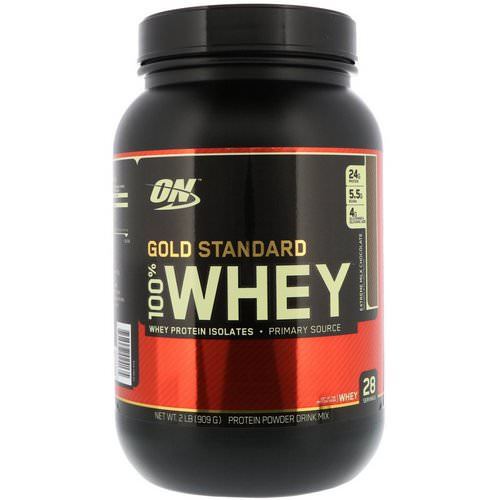 Optimum Nutrition, Gold Standard 100% Whey, Extreme Milk Chocolate, 2 lbs (909 g) فوائد