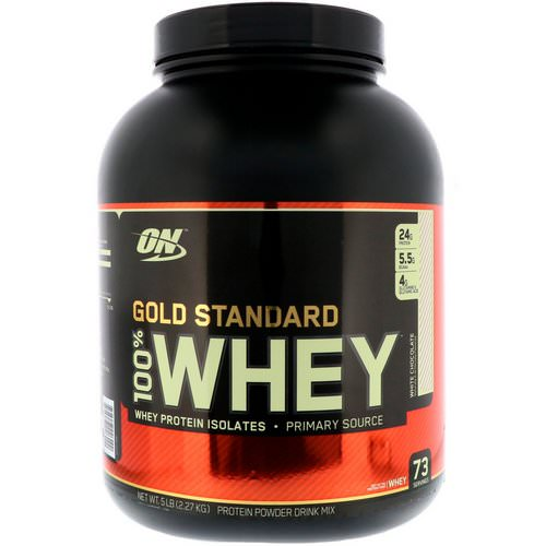 Optimum Nutrition, Gold Standard, 100% Whey, White Chocolate, 5 lbs (2.27 kg) فوائد