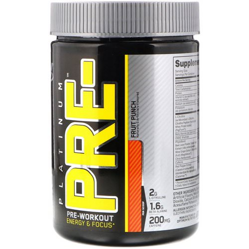 Optimum Nutrition, Platinum Pre-Workout, Fruit Punch, 8.45 oz (240 g) فوائد