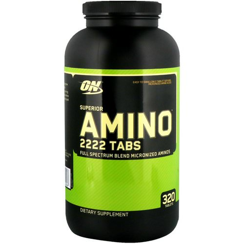 Optimum Nutrition, Superior Amino 2222 Tabs, 320 Tablets فوائد